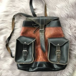 Vintage Mini Leather Backpack